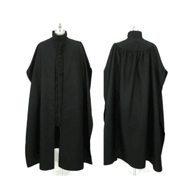 Комплект одежды для косплея «Северус Снейп», «Хогвартс», «преподаватель», «Снейп», плащ, длинная куртка, мужской средневековый готический к