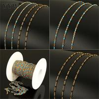 10m/Spool Metal Chains For Jewelry Making Stainless Steel Oval Chain Gold Color Plated Necklace Bracelets Making Accessories