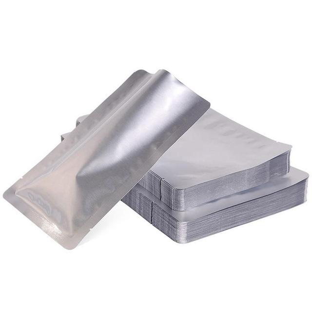 100 pçs/set Prata Mylar Folha De Alumínio Saco Aferidor Do Vácuo De Armazenamento De Alimentos Pacote Bolsas Para Ferramentas de Cozinha De Casa