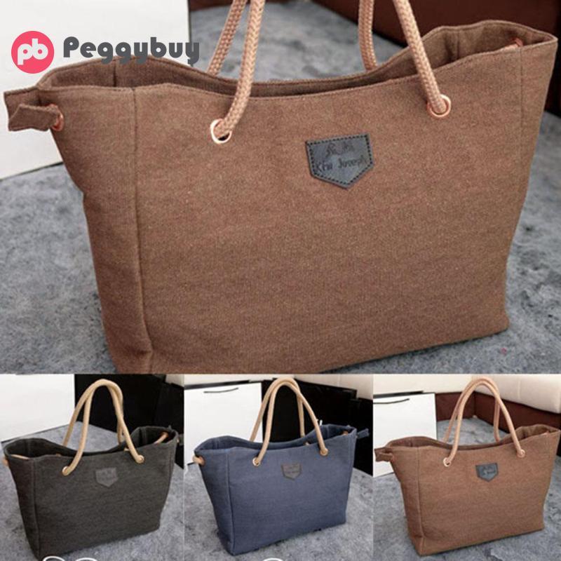 Woman Canvas Handbag Shoulder Tote Purse Clutch Bag
