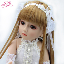 Lovely 18 Rapunzel BJD doll Handmade top quality gift BJD Reborn doll Joint dolls Dollhouse Toys Collect girl birthday gift