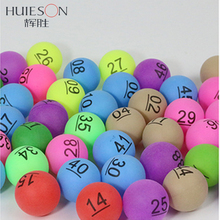 HUIESON 50Pcs/Pack Colorful Entertainment Ping Pong Balls with Number Table Tennis Ball for Lottery Game Advertisement 2.4g