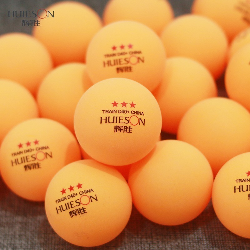 HUIESON 100Pcs/Bag 3 Star New Material D40+ Table Tennis Balls ABS 40MM+2.8g Ping Pong Balls For Adult Club Training Ball