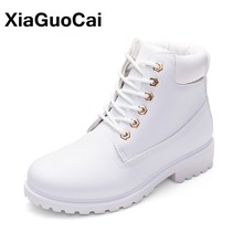 Women Boots High Top Woman Shoes 2019 Autumn Winter Female Ankle Plus Size Work Tooling Casual Outdoor