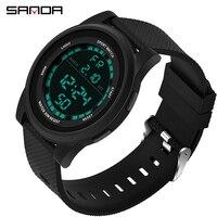 2019 New LED Digital Watch Men Male Clock Thin 3ATM Waterproof Men Military Sport Watch Masculino Relogio montre homme Sanda 365