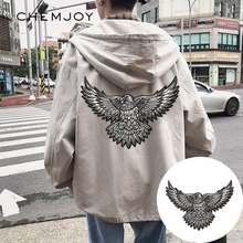 Iron on Embroidery White Eagle Patch for Clothing Biker Clothes Sticker Fabric Large Patches Decorative Jacket Backpack Applique