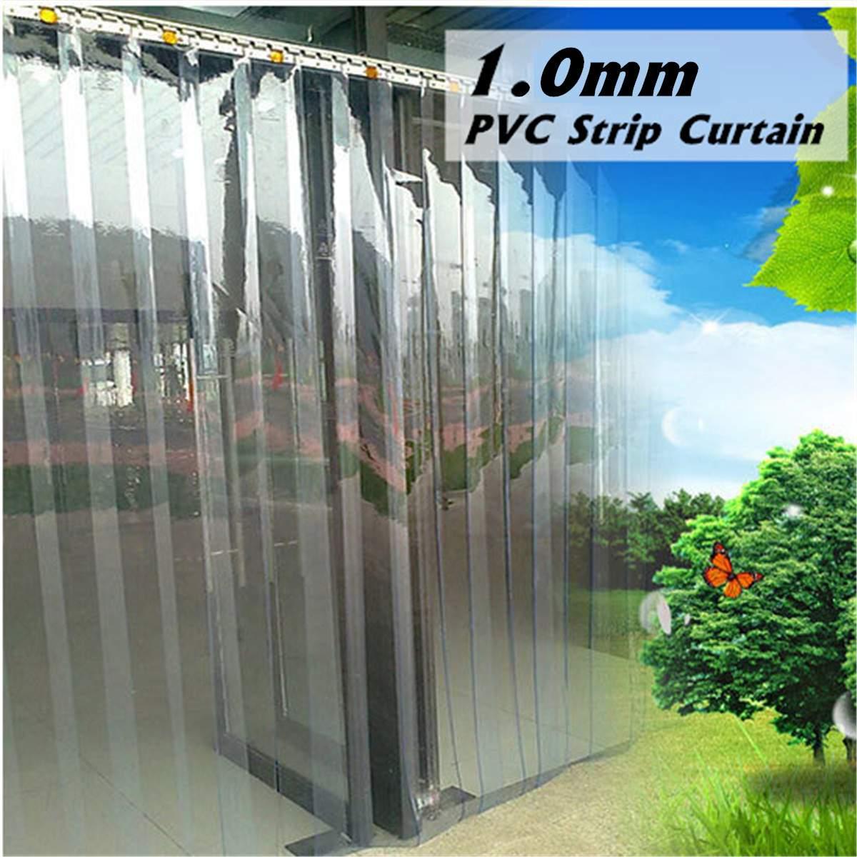 Kit de tira de plástico para congelar, cortina transparente de plástico para pendurar em cortinas, resistente ao vento, calor frio, 200*18*0.1cm