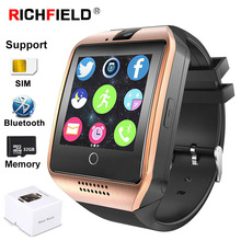 Q18 Smart Watch Men Sim Card Bluetooth Phone Watch Support 32GB TF Fitness Activity Tracker Whatsapp Smartwatch For IOS Android цена 2017