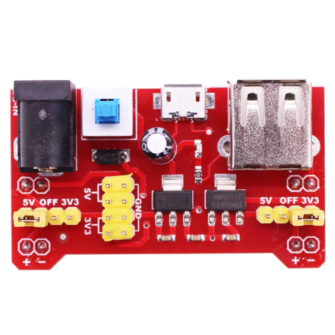 MODIKER High Tech  5V Power Supply Module Breadboard Compatible With 5V 3.3V For Micro:bit Development Board Programmable Toys