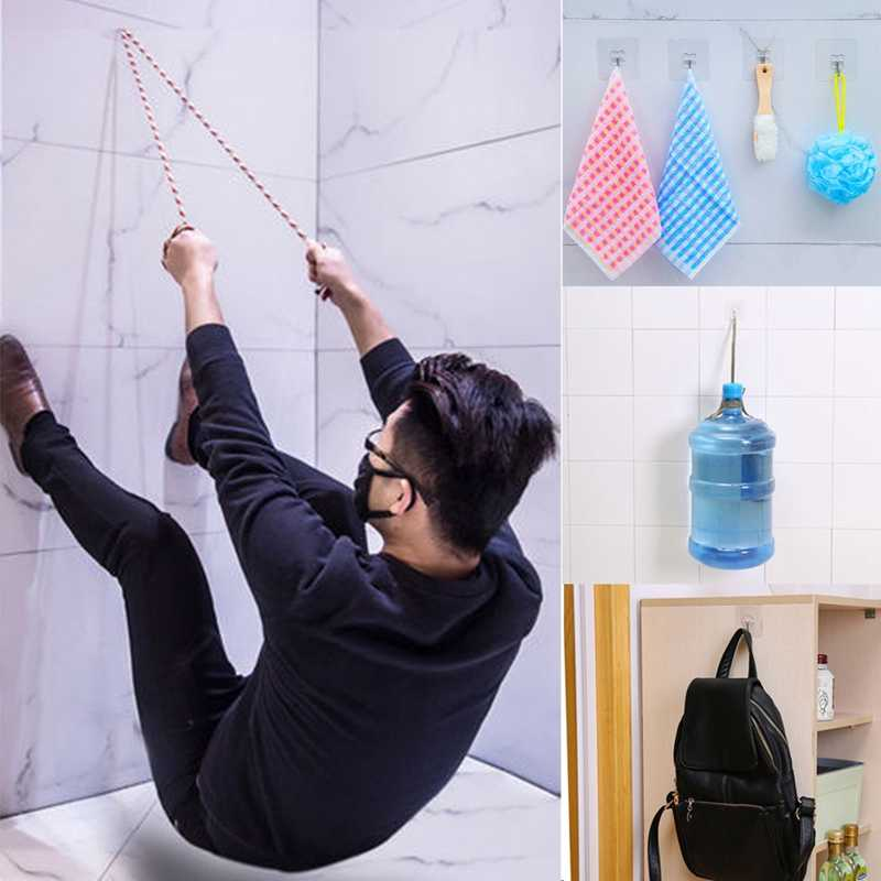 Strong Transparent Suction Cup Sucker Wall Hooks Hanger for Kitchen Bathroom Home (1)