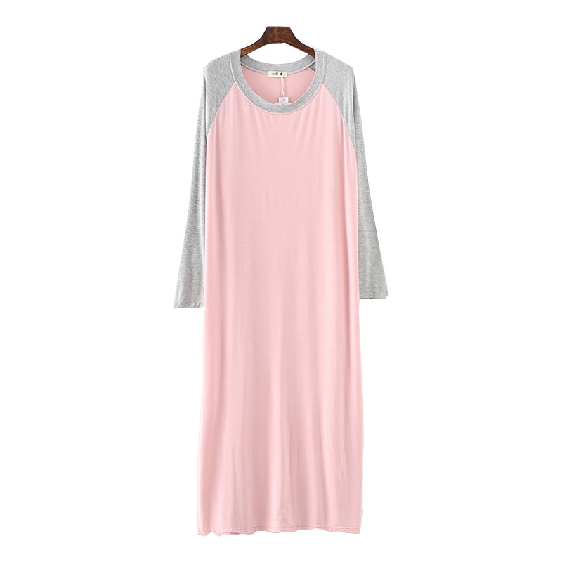 2019 Spring Summer Long Sleeve Nightdress For Women Modal Cotton Sleepwear Nightshirts   Nightgowns   Nightwear   Sleepshirts
