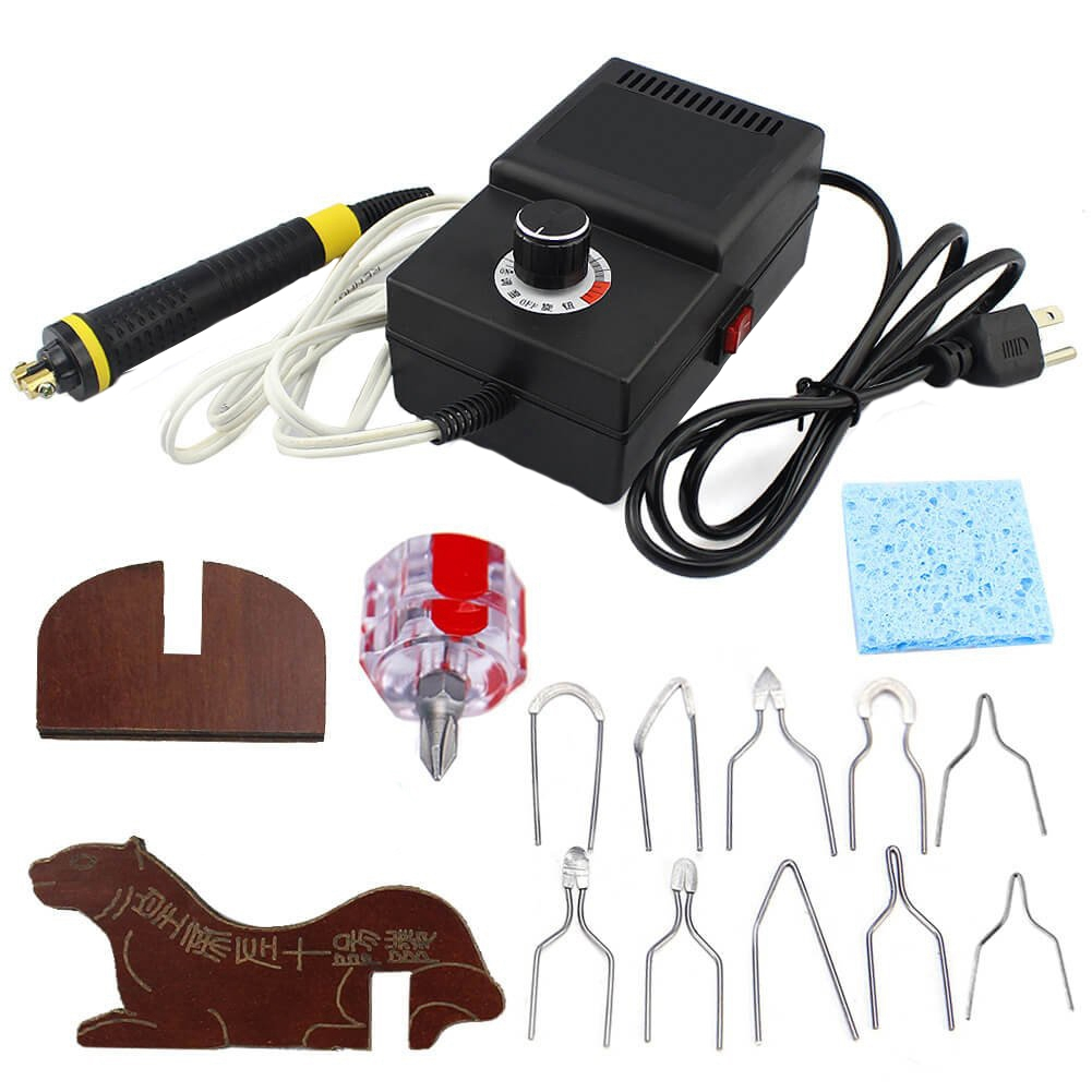 Us Plug Wood Burning Pyrography Set 110V 25W Adjustable Temperature Woodburner Machine For Wood Leather Suit