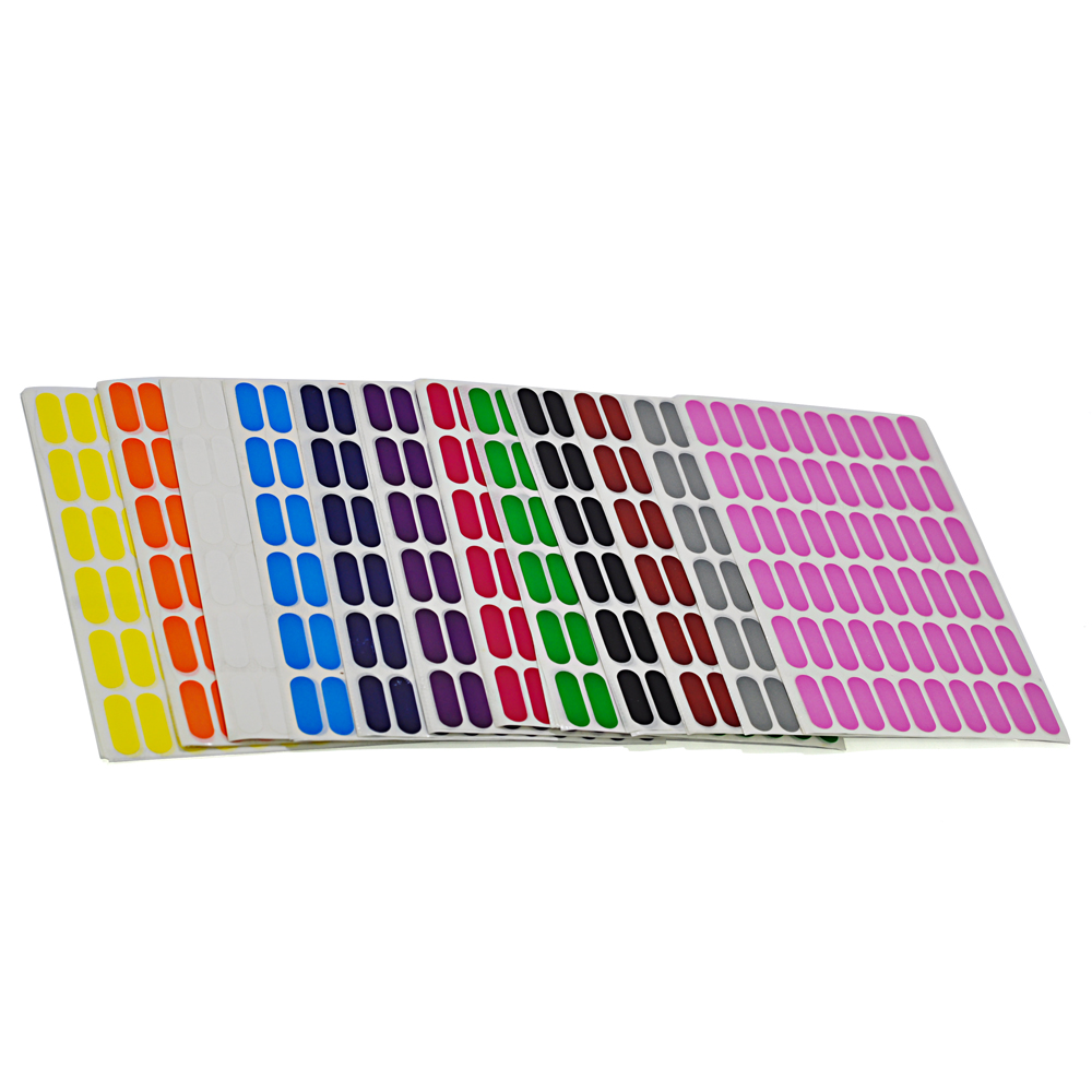 100 feuilles autocollantes couleur ovale catégorie étiquette, autocollants de Classification de boîte de bouteille de produit, 60 étiquettes par feuille, 8x24mm