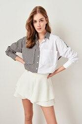 Trendyol camisa a cuadros blanca TWOSS19AP0123