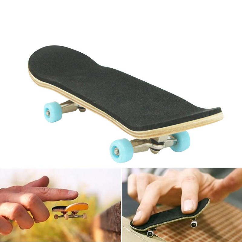 Image 5 - Children's entertainment Finger skateboard Earthquake resistance Non slip Wooden skateboard   durable Skateboard set-in Skate Board from Sports & Entertainment