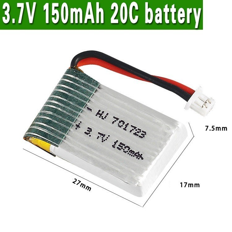 150mah 3.7v Battery For H20 RC Quadcopter Spare Parts 150mah 3.7v LIPO Battery For U839 S8 M67 YD927 1.25mm Plug 701723