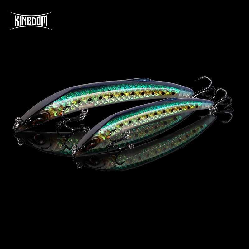 Kingdom Hot Fishing Lures 118mm High Quality Pencil & Minnow Hard Baits Good Action Artificial Bait Fishing Tackle Lure Wobblers