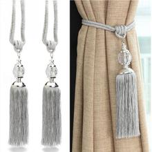 Crystal Hanging Ball Curtain Strap Ball Strap Crystal Tassel Curtain Tieback Window Accessories Curtain Clips