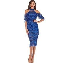 MUXU fashion blue sequin dress sexy transparent robe femme vestido elegant frocks party jurken fringe glitter gold vestidos jurk