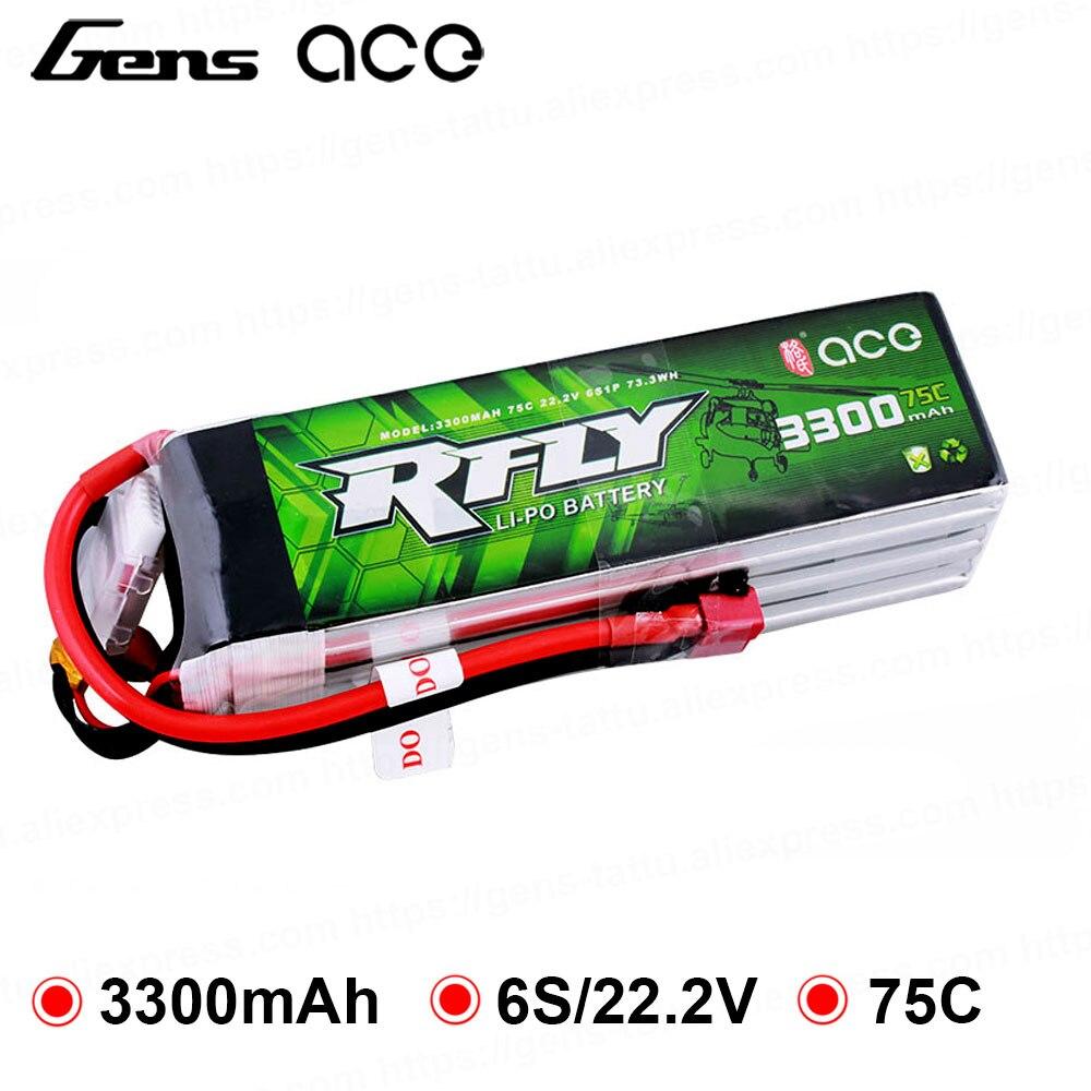 Gens ace 3300 mAh 6 RFly S 22.2 V 75C Max 150C Bateria Lipo com XT60 Reitor Ficha T para traxxas Barco Heli Zangão Avião de Asa Fixa