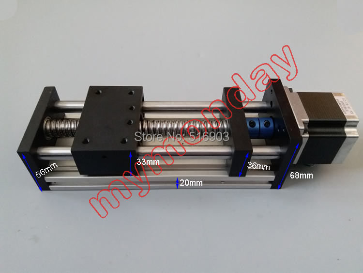 Free Shiping GGP1605 Linear Guide Motion Module 100mm Effective Travel Length Ballscrew Sliding Table Rail System