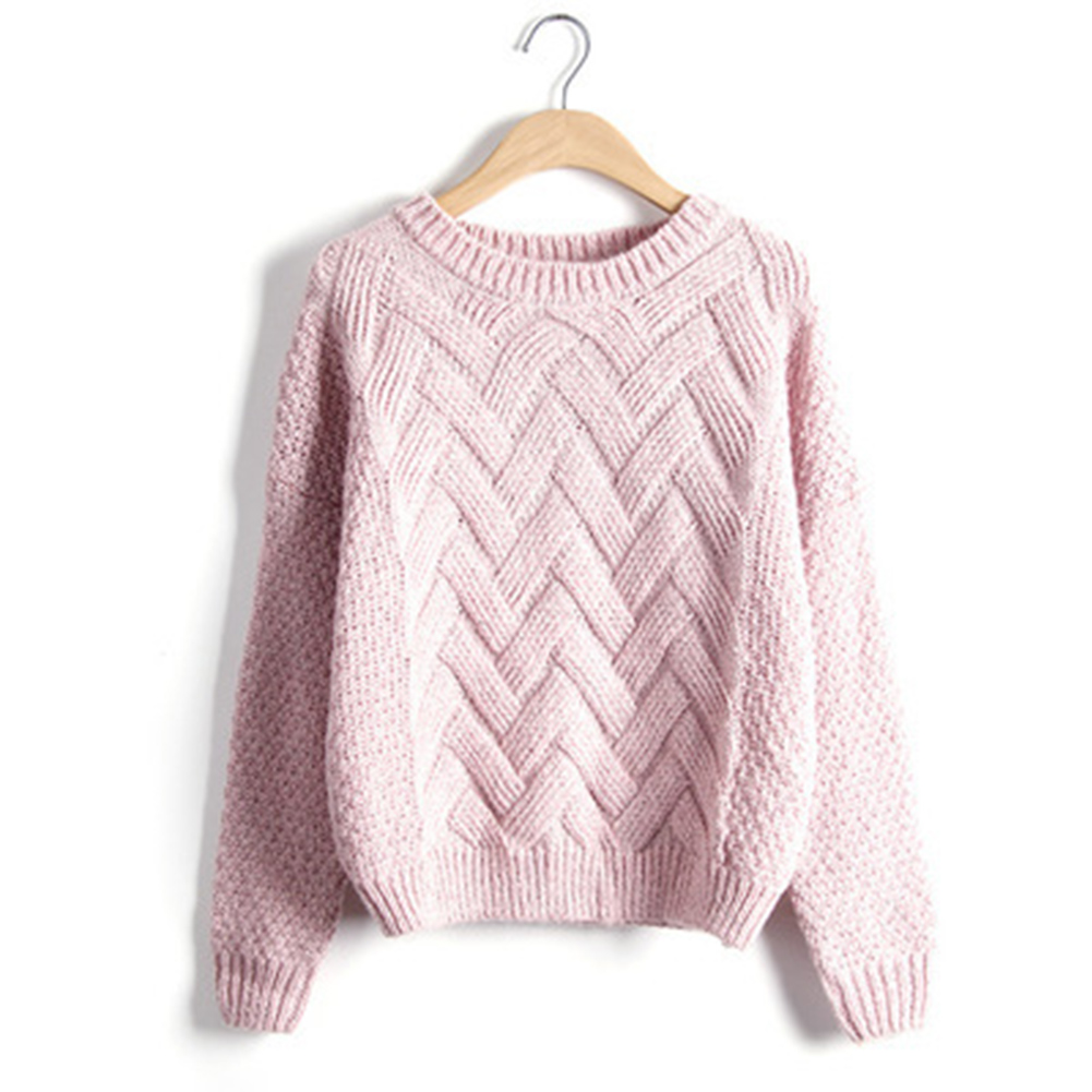 Autumn Winter Women Loose Casual Sweaters Pullovers  Thick Knitting Sweater