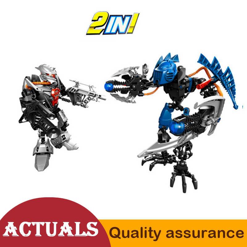 Decool 9365 Hero Factory 2 em 1 Granel e Vapor legoed Bionicle Soldado Modelo Blocos de Construção Tijolos Brinquedos Do Menino Compatível 7179