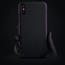 Caso de fibra de carbono para o iphone x caso de fibra de aramida fosco ultra fino qualidade capa do telefone para o iphone xs xs max caso coque
