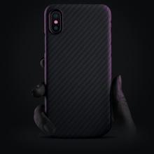 Чехол из углеродного волокна для iPhone X, матовый чехол из арамидного волокна, ультратонкий качественный чехол для телефона iPhone XS Max, чехол
