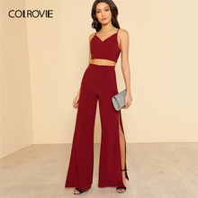 COLROVIE Set Women Women Set Women Suit Set Women Summer Suits Sexy Pant Suit Women Clothing Set Summer Style Set Ladies(China)