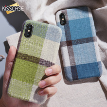 KISSCASE Frabic Case For iPhone 7 8 plus X Soft Phone XS MAX XR 6 6S Plus Colorful Cloth Back Cover Funda