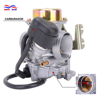 Motorcycle Aluminum CVK32 32mm Carburetor For Keihin Scooter ATV With GY6 150CC 200CC 250CC Engine Good Quality Replacement
