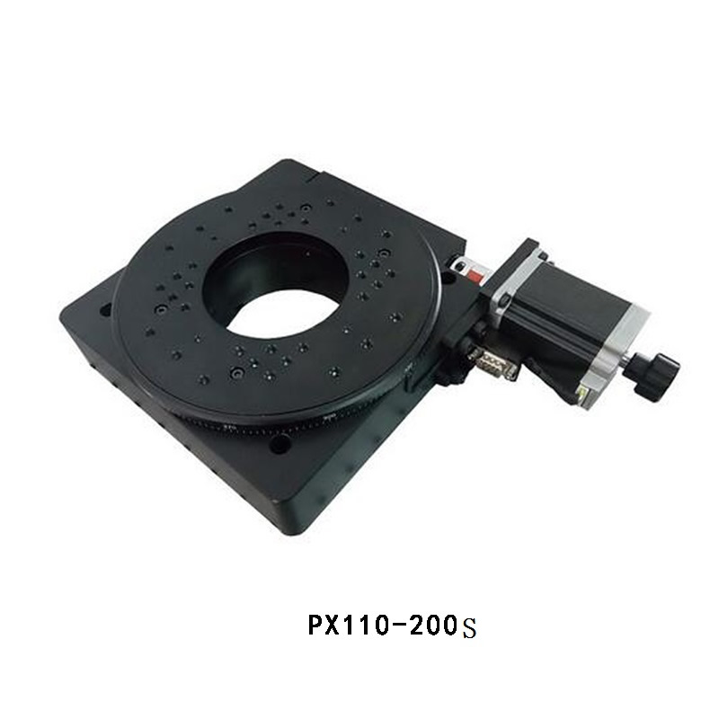 PX110 200S Motorized Rotary Stage Motorized Rotation Strage Optical Rotating Platform Dia 200mm ballscrew linear slide