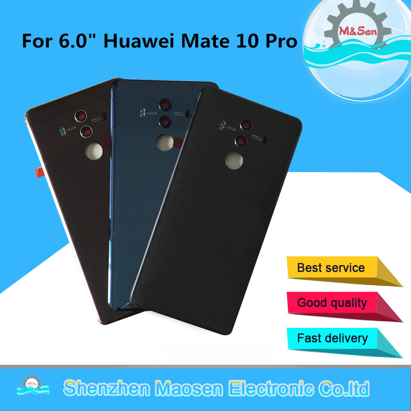 Sticker Back-Battery Case Cover Housing Glass-Lens Huawei Original M for Huawei/Mate/10-pro/Glass
