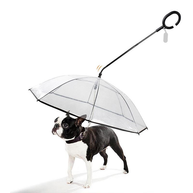 Прозрачный полиэтиленовый зонт для домашних животных сохраняет сухость питомца комфортным в Дождь Снег удобный Зонт дождевик с собачьими