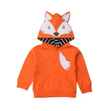 CANIS Winter Warm Newborn Kids Baby Boys Girls Hoodie Cartoon Fox Hooded Tops Sweatshirt Outwear Sweatsuit Clothing Boy Girl(China)