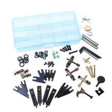 DIY аксессуары для татуировок, набор шурупов для тату, инструменты для ремонта машин, набор инструментов для технического обслуживания, ассортимент, коробка для хранения, принадлежности