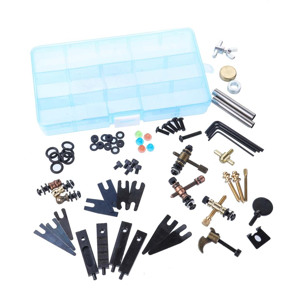 DIY Tattoo Accessories Parts Screws Kit Tattoo Guns Machine Repair Tools Maintenance Tools Set Assortment Storage Box Supplies