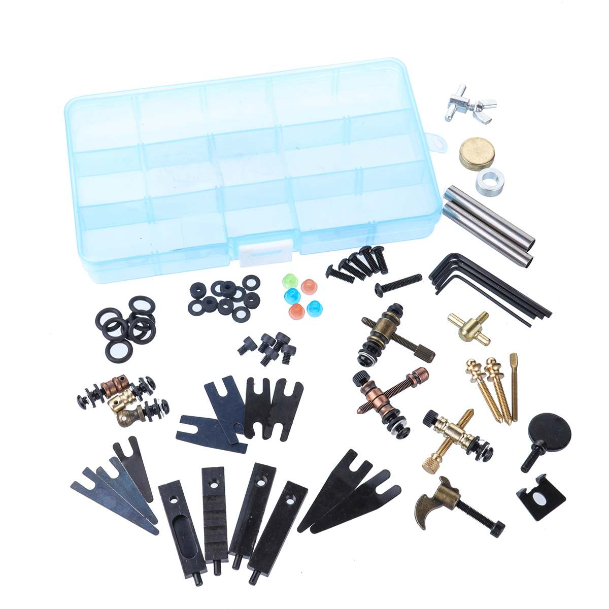 DIY Tattoo Accessories Parts Screws Kit Tattoo Guns Machine Repair Tools Maintenance Tools Set Assortment Storage Box Supplies