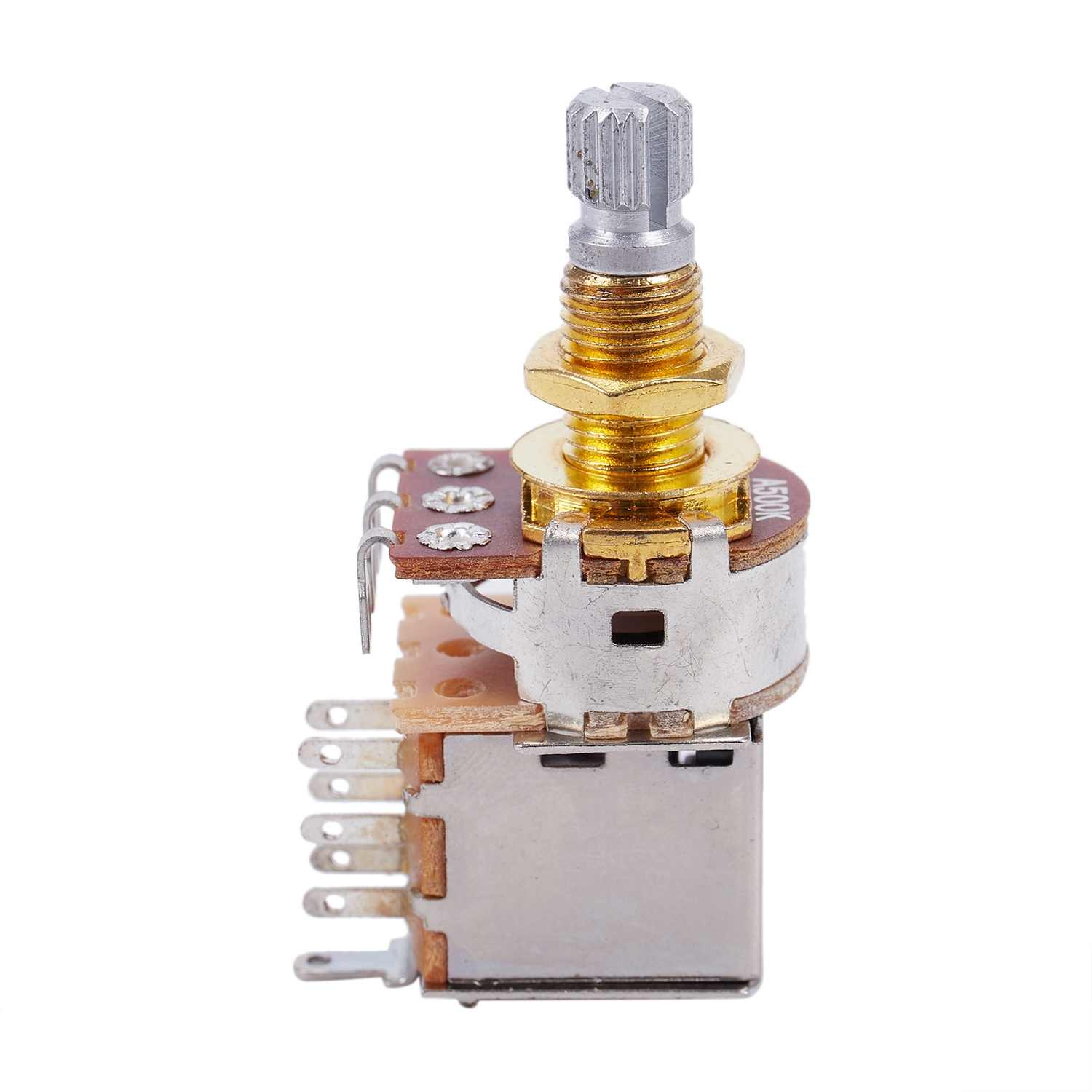 Pots de guitare 500K court arbre fendu Audio cône Push/Pull potentiomètre