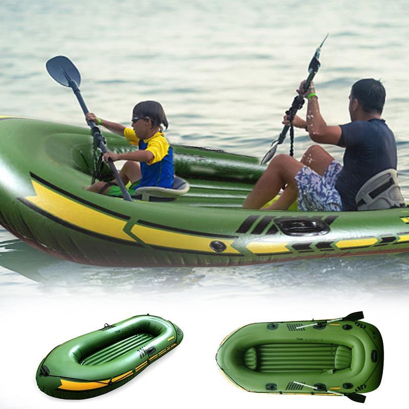 Ensemble de Kayak gonflable pour deux personnes, bateau de Sport, voile maritime, forfait de course pour chaloupe Pro, rames, pompe à Air à haut rendement, bateau à rames, enfant