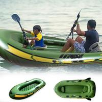 One Two People Inflatable Kayak Set Sport Boat Sea Sailing Pro Rowboat Racing Package Oars High Output Air Pump Rowing Boat Kid