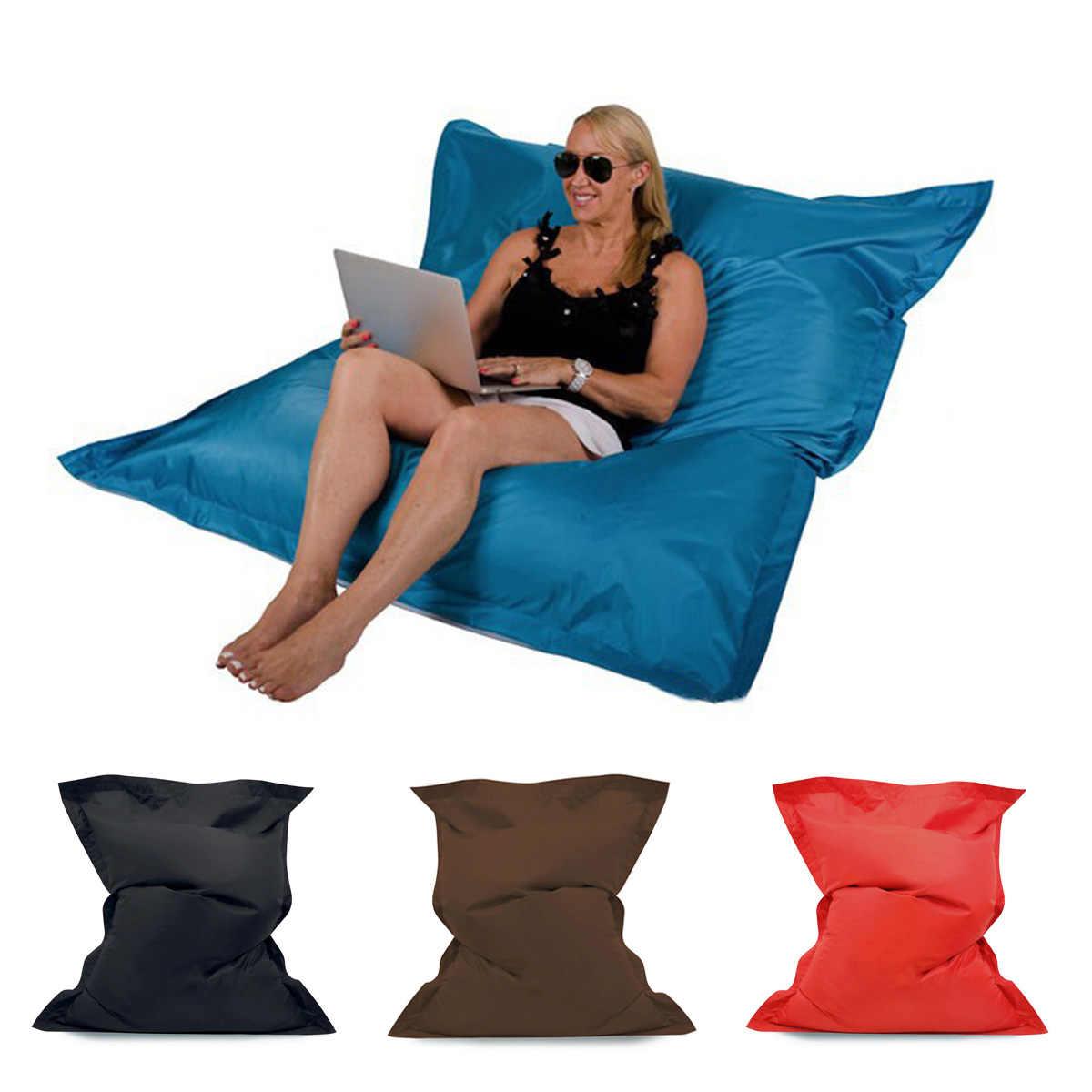 Saco de Assento Beanbag Cadeira Do Sofá Magia Casos Zac Conforto Tampa Sem o Preenchimento do Saco de Feijão Cama Lounge Chair Beanbag Interior À Prova D' Água