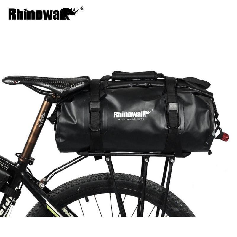 Rhinowalk sacs à bagages vélo étanche 20L pour vélo de route porte-bagages arrière coffre vélo selle rangement sacoche Multi sac de voyage
