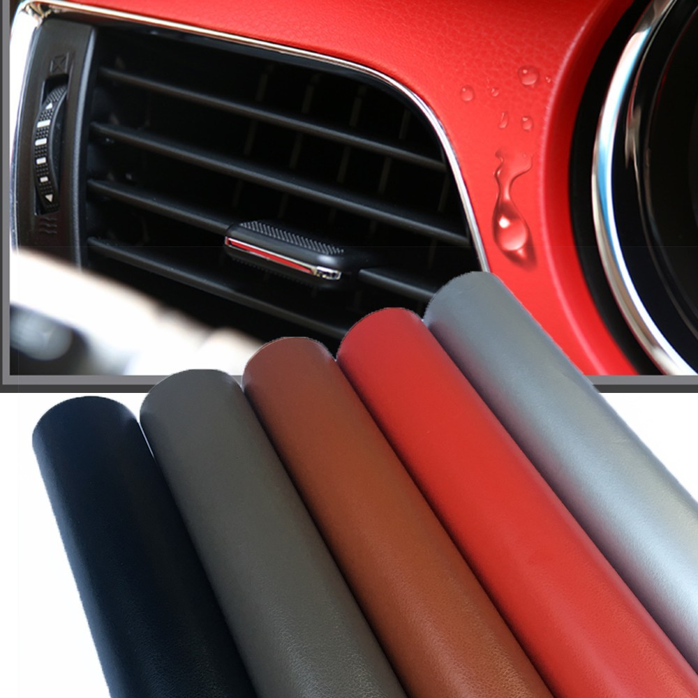 152cm x 2m Leather Grain PVC Vehicle Body Internal External Adhesive Sticker Car Styling Decoration Vinyl Wrap