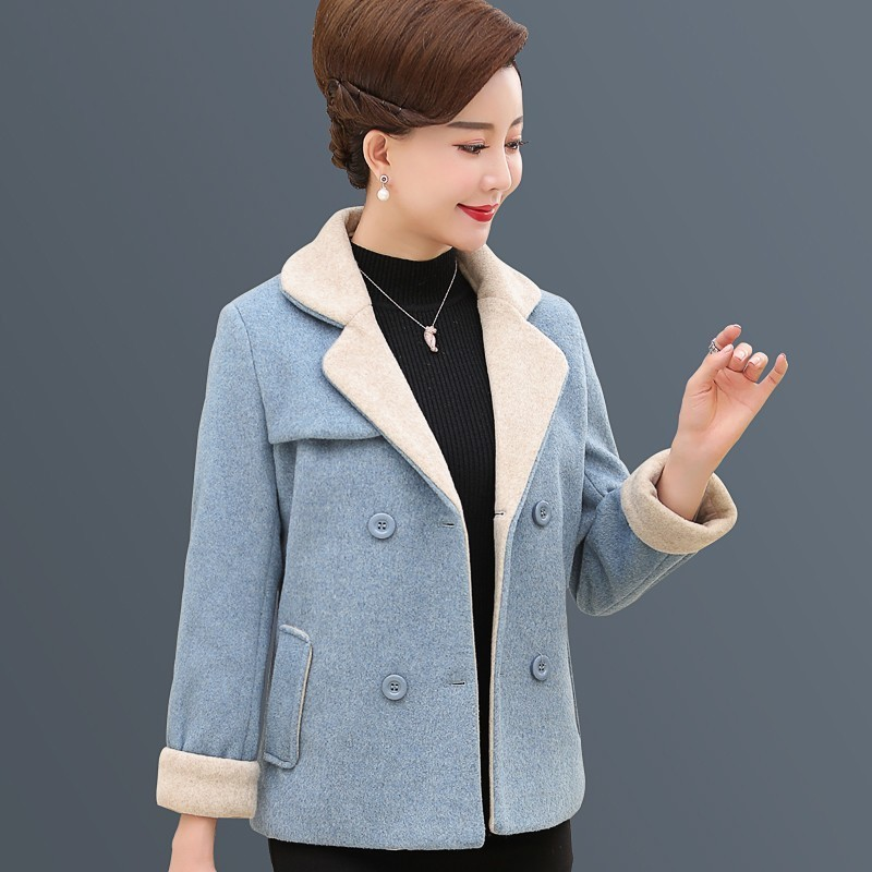 Jeune maman hiver laine manteau 2019 nouvelle mode femme basique veste lâche cachemire Style occidental épaississement moyen âge vêtements PL13