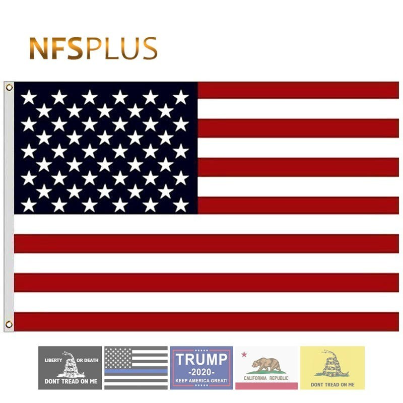 American Flag USA United States 3x5 Feet Polyester Printed The Star Spangled Banner 90x150 Cm National US Flags And Banners
