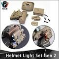 Тактический светильник для шлема GEN 2  белый  красный ИК-светильник  быстрая вспышка для шлема  аксессуары для шлема GEN II  Led GEN TWO