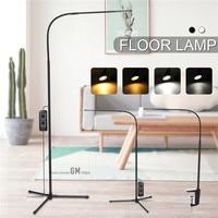 Heißer Verkauf Moderne 8 W Weiß & Warm Weiß LED Boden Lampe Dimmer USB Schreibtisch Lese Leuchte für Schlafzimmer decorTriangle Boden Lampe-in Stehleuchten aus Licht & Beleuchtung bei