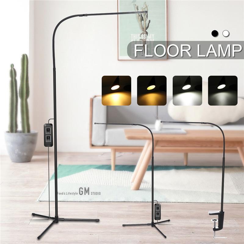 Hot Sell Modern 8W White & Warm White LED Floor Lamp Dimmer USB Desk Reading Light Fixture for Bedroom DecorTriangle Floor Lamp Floor Lamps     - title=